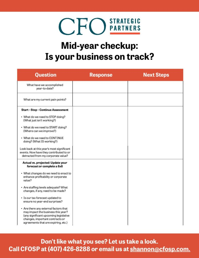 Mid-year business check up