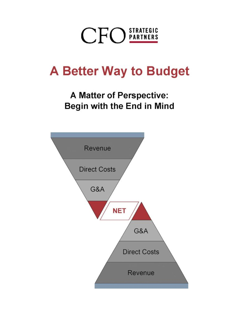 A Better Way to Budget